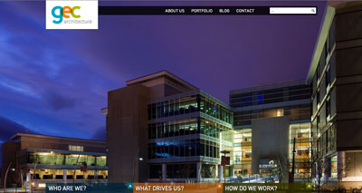 homepage of GEC architecture website