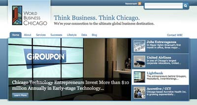 World Business Chicago site
