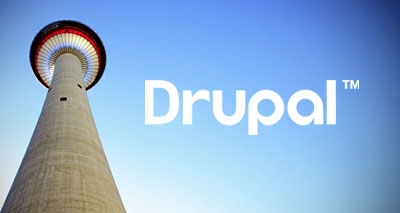 Calgary Tower and Drupal logo